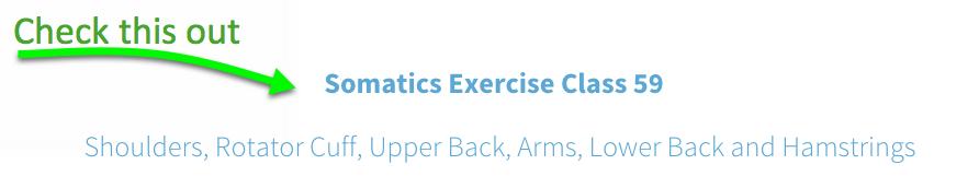 Somatics Exercises Class 59