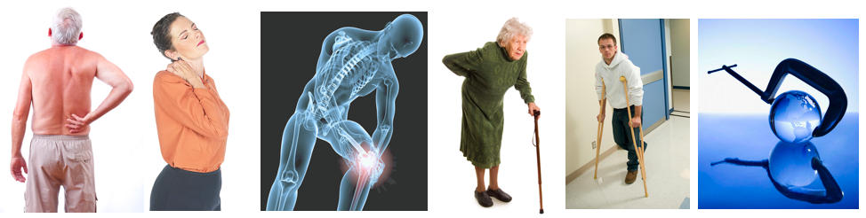 back pain, neck pain, knee pain, trouble walking, injury, tension